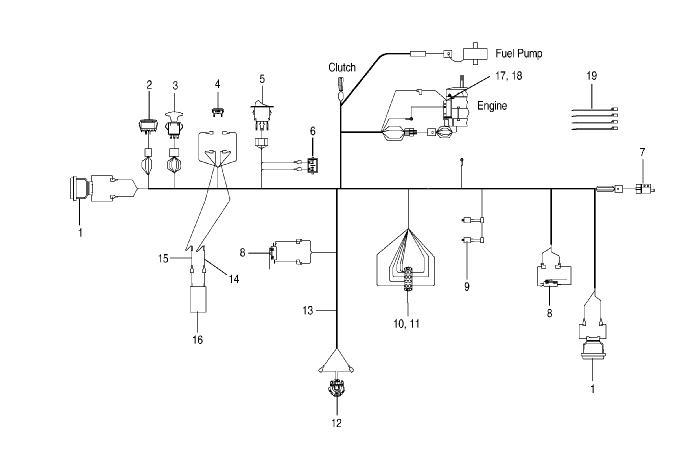 Bush Hog Zt 22w 22hp Kawasaki Engine Parts Zt 22w 22hp Kawasaki Engine Wiring Assembly For Zero Turn Model Zt22 W With Kawasaki Engine Parts List And Diagram