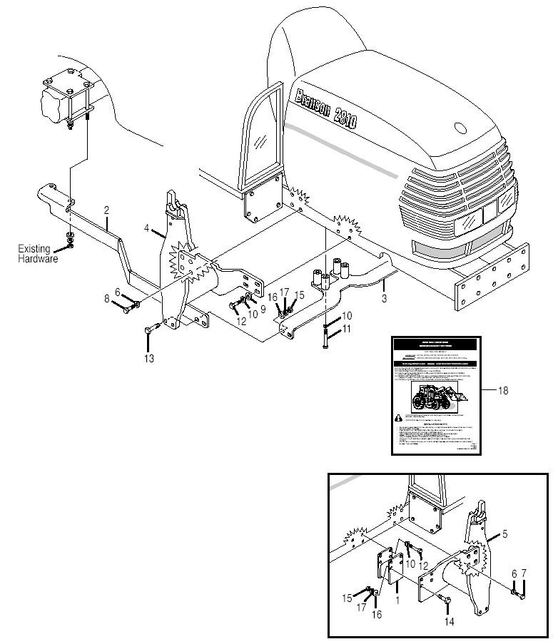 Bush Hog M246midmountloader Parts M246midmountloader Mounting