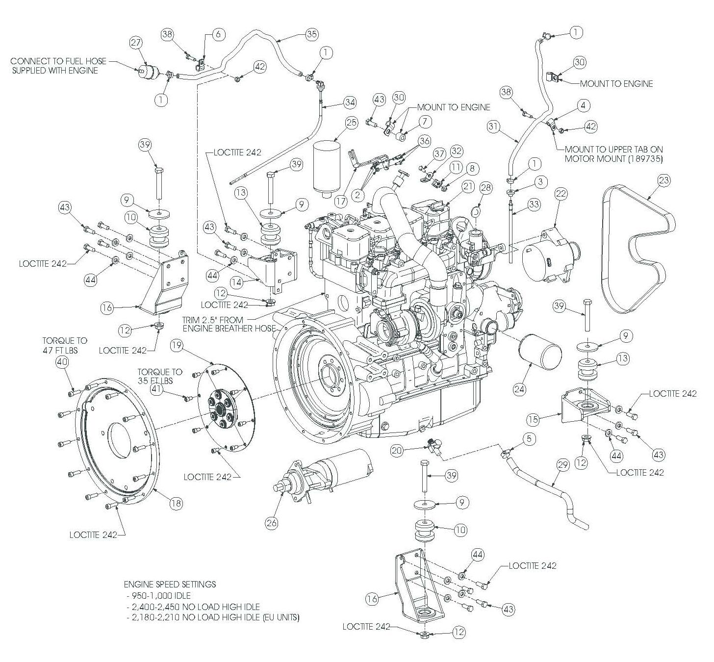 Gehl ENGINE 99.5 HP Engine Assembly gehl skid steer loaders sl7810e sl7810e (eu) sl7810e sl7810e (eu