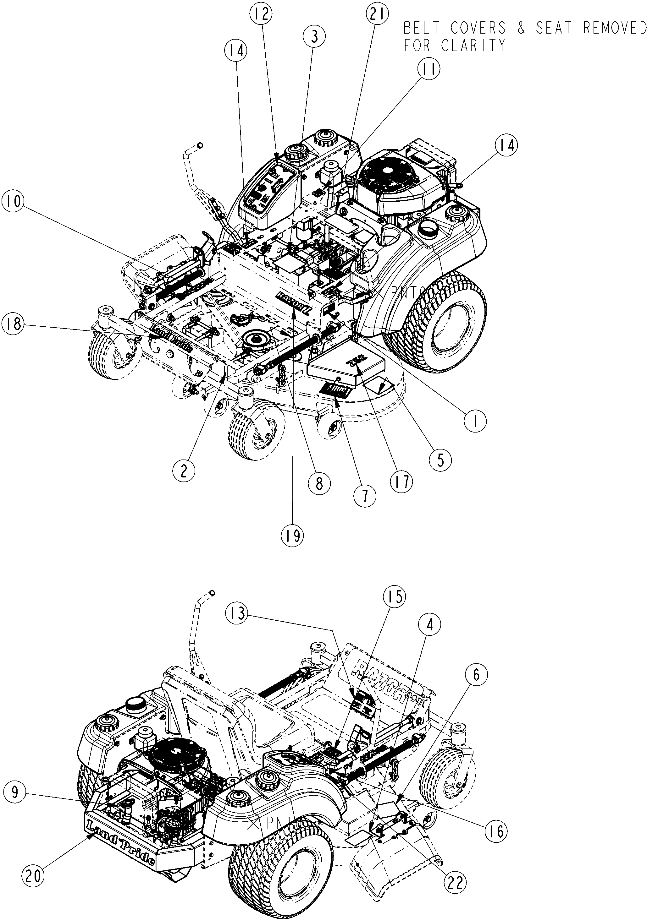 Land Pride Wiring Diagram 25 Images Razor Z44 Sn 472620 And Above Zero Turn Mower Label Placement Assembly