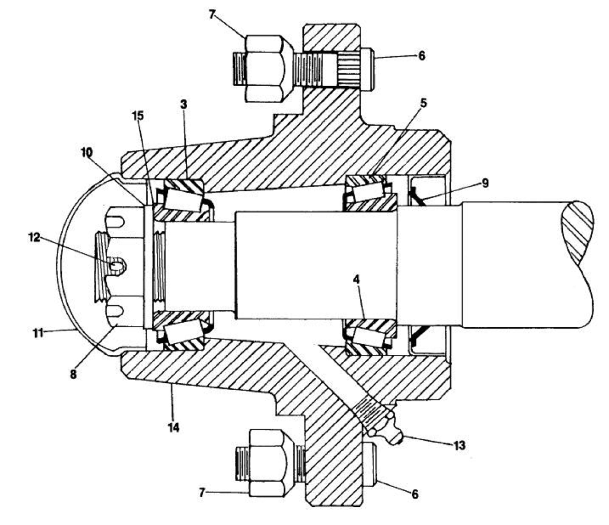 Servis Rhino Gr84 Rotary Mower Sn 26327 Current Hub Assembly Diagram Image Of Hover Over For Expanded View