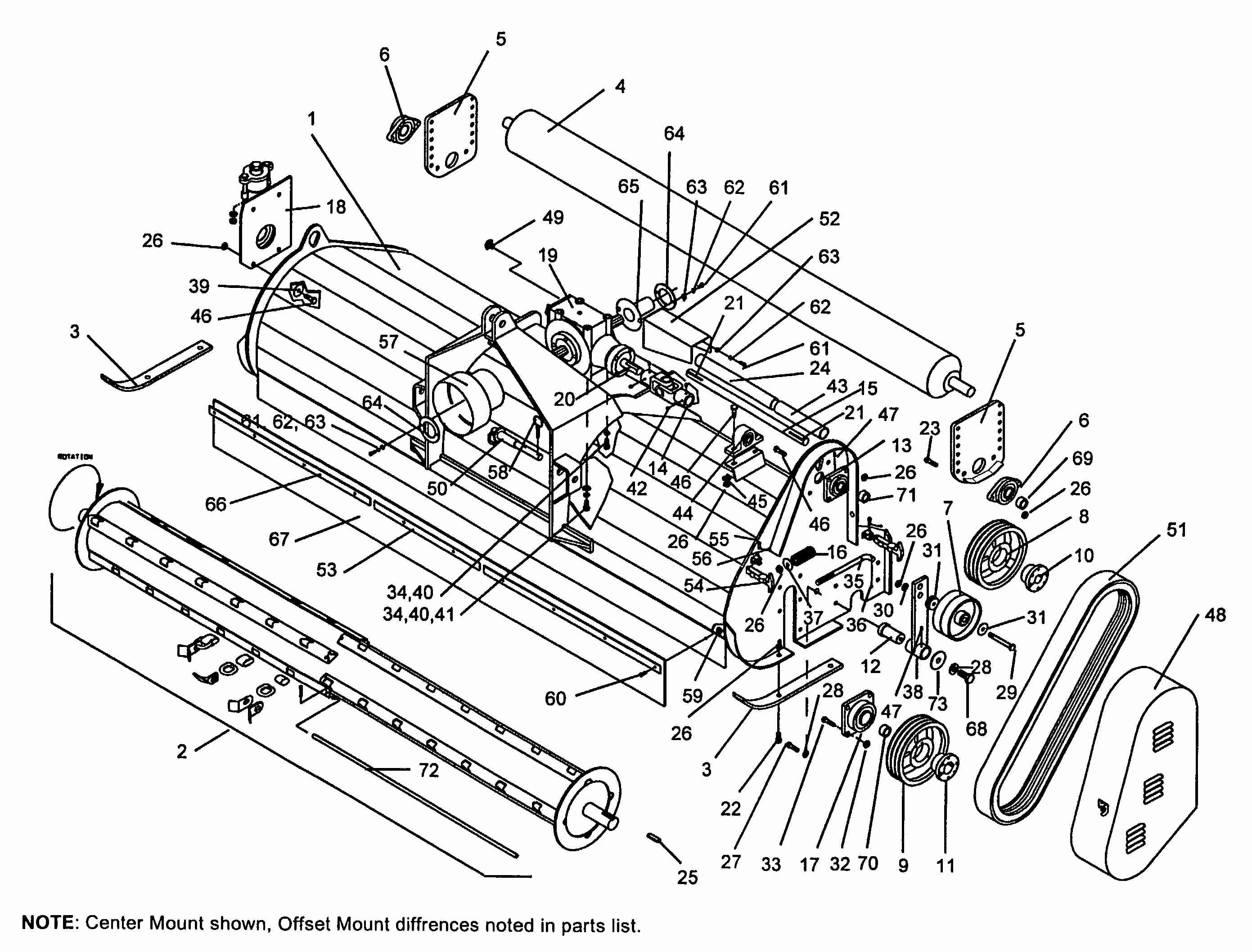 Servis Rhino ORC/6-15 SN 10001-Current Flail Mower GENERAL ASSEMBLY